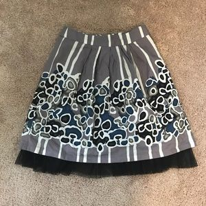 Downeast Basics Printed Cotton and Tulle Skirt